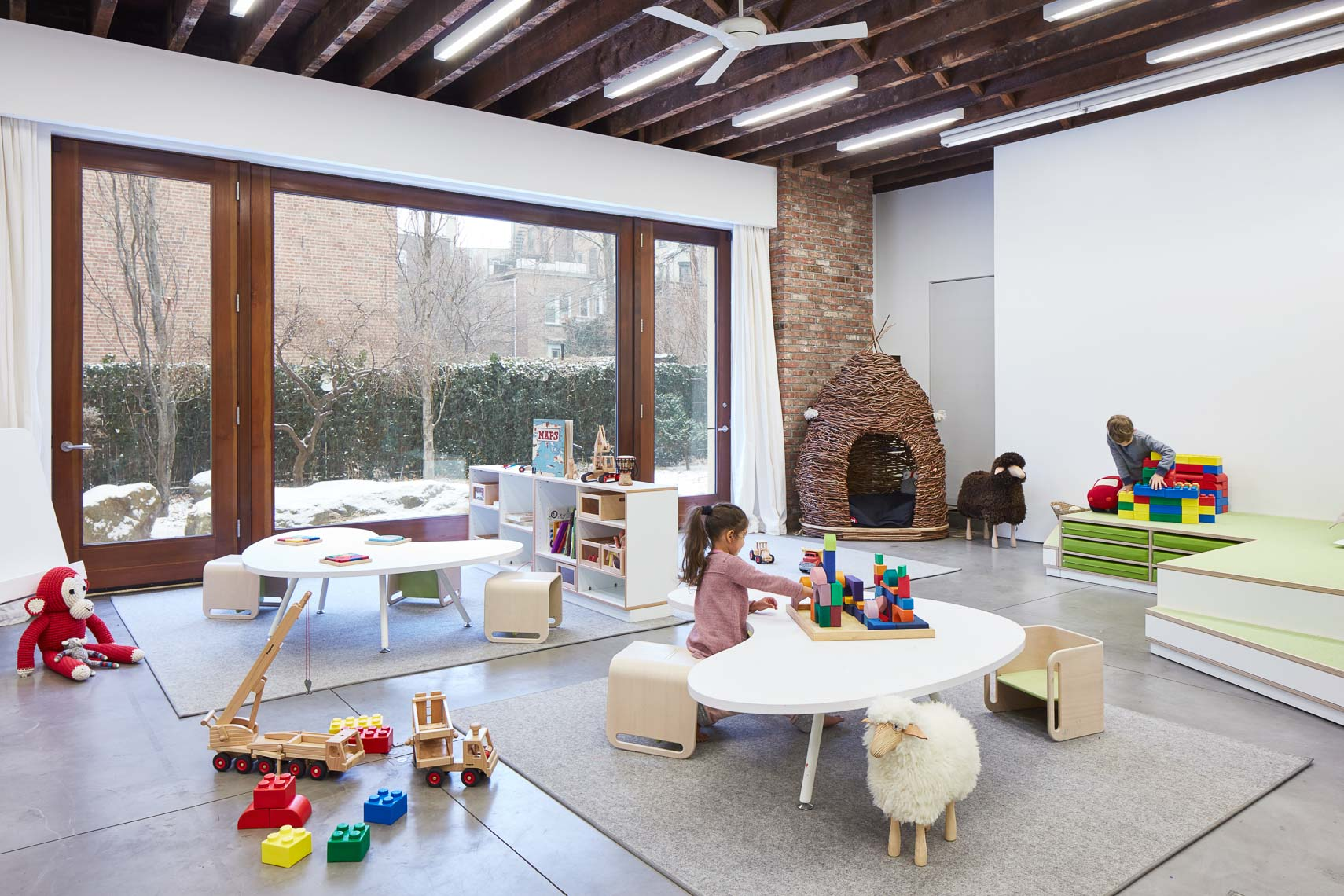 Modern interiors of a play area for young children