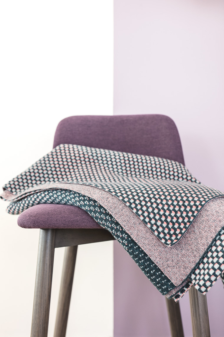 Lambswool blanket on a chair