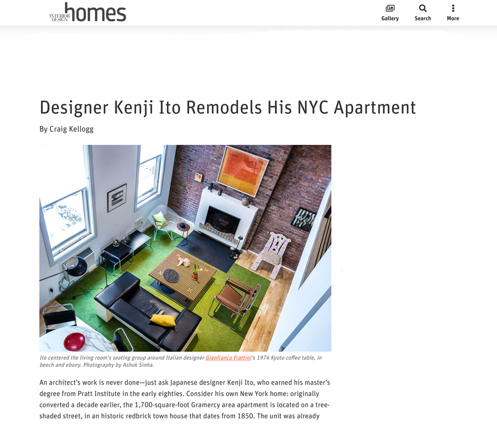 Interior Design Homes Designer Kenji Ito Remodels His NYC Apartment
